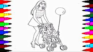 Small Picture Coloring Pages BARBIE and Chelsea In the Stroller Coloring Book