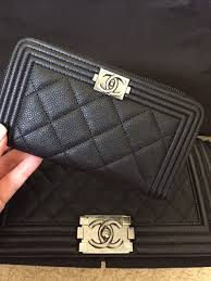 chanel zip wallet. just purchased this zip around boy wallet yesterday! chanel