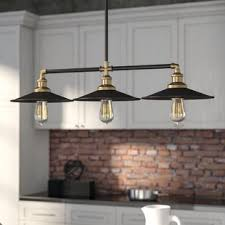 Kitchen island lighting fixtures Modern Kitchen Dobson 3light Kitchen Island Pendant Wayfair Kitchen Island Lighting Youll Love Wayfair