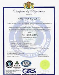 Microsoft Office Training Certificate Iso Certified Aims Certified Training Center
