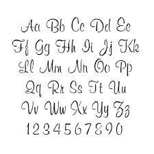 cursive letter stencils printable google search