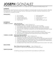Sample Resume Auto Mechanic Auto Mechanic Responsibilities Auto Mechanic Job Description