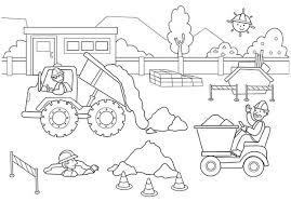 Small Picture Construction Coloring Pages GetColoringPagescom