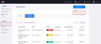 Using Recurring Billing Online Invoice Software Hiveage