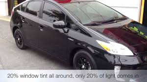 2012 PRIUS BLACKED OUT RIMS and TINT BEVERLY HILLS, CA - YouTube