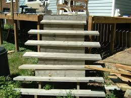 installing new deck stairs thumb and