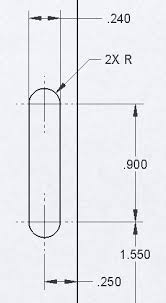 Slot Tolerance Chart Dimensioning Of Slots Sw 2009 And Asme Y14 5m Solidworks