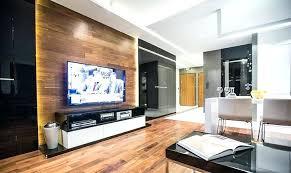 Holzwand Wohnzimmer Fernseher An Wand Montieren Die Eleganteste Variante Fa  1 4 Rs Moderne