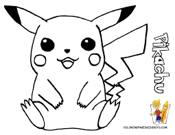 Small Picture Pikachu Coloring Pages