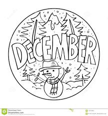 December Coloring Pages For Kids Stock Illustration Illustration