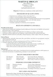 Resume Examples Warehouse Worker Resume Sample Warehouse Worker ...