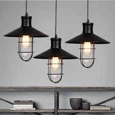 pendant lighting vintage. black rustic pendant lights vintage industrial lamp led light birdcage lamps warehouse lighting g