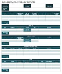 Business Trip Agenda Template Free Itinerary Templates Smartsheet