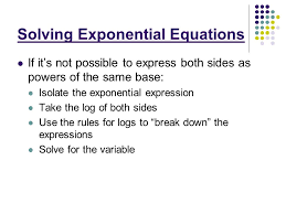 3 solving exponential