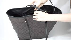 จำหน่าย กระเป๋า Coach Signature Large Taxi Tote (Brown  Black) F34105 by  usa2bkk - YouTube