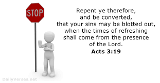 Acts 3:19 - KJV - Bible verse of the day - DailyVerses.net