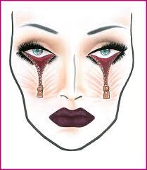 Mac Cosmetics Looks Face Charts Mac Cosmetics Halloween Face Charts And Halloween Makeup