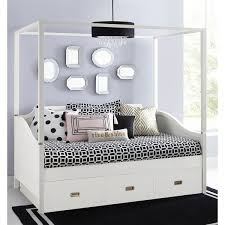 Shop Hillsdale Tinley Park Full Canopy Daybed With Trundle, Soft White - Free Shipping Today Overstock.com 17957762