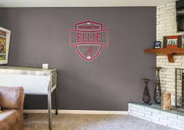>alabama crimson tide personalized name wall decal shop fathead  alabama crimson tide personalized name fathead wall decal