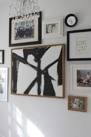 abstract art diy white framed art