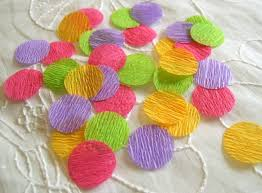crepe paper confetti by rachel swartley