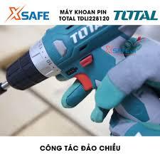 Máy Khoan pin Li-ion 12V TOTAL TDLI228120-1 Tặng kèm 3 món 1 pin 2 mũi khoan.  Máy khoan dùng pin cầm tay điện thế 12V - Máy khoan