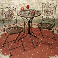 sandria bistro table and chairs brown set of three to expand