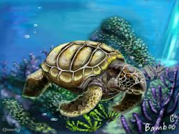 Small Picture Sea turtle an animals Speedpaint drawing by Bamboo Queeky