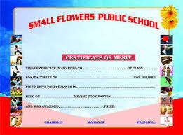 Participation Certificates School Certificate Sanskriti Press