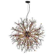 modern globe chandeliers firework led vintage wrought iron pendant lights living room dining room g4 bulb