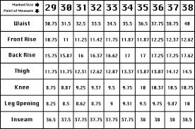 Inseam Vs Outseam Chart Test Lot 00 Ooooooooooooooooo
