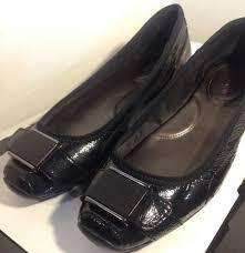 details about calvin klein women s size 7 m shoes black patent leather ballet flats deniz