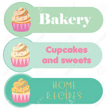 Buisness Greeting Cards Cupcake Banners Set For Your Business Greeting Cards Menu