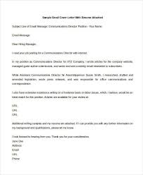 21 Email Cover Letter Examples Samples