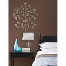 click to expand on damask sticker wall art with nouveau damask wall art kit