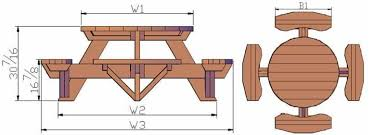 full size of furniture fascinating round picnic table plans 18 free round picnic table plans