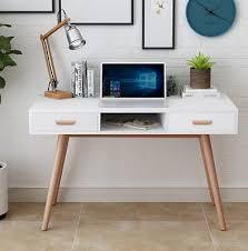 white wood office furniture. Plain Office Scandinavian Modern Retro Style Desk With Wooden Legs Office Home Furniture  NEW Throughout White Wood