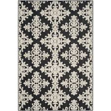 safavieh cottage indoor outdoor black cream 5 ft x 8 ft area