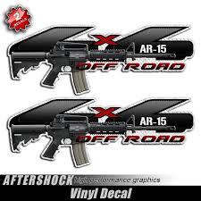 4x4 AR-15 Assault Rifle F-150 Gun Decals - Aftershock Decals