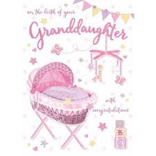 Congratulations Design Congratulations Birth Of Your Granddaughter Crib Design Card Lovely Verse Special Days Cards