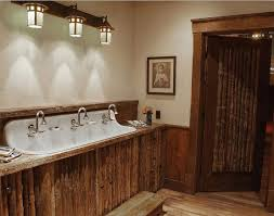 3 rustic bathroom lighting on top of vessel sink bathroom lighting ideas photos