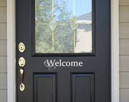exterior door stickers. welcome - front entry way decor door decals stickers porch exterior d