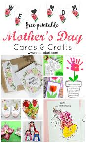 Free Craft Printables Templates Printable Mothers Day Cards Crafts Red Ted Art