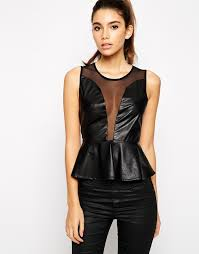 for love lemons for love and lemons lulu faux leather top