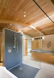 solid surface shower walls in bathroom contemporary with curbless shower ceiling lighting ceiling wall shower lighting