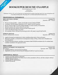 bookkeeper job description for resume bookkeeper resume