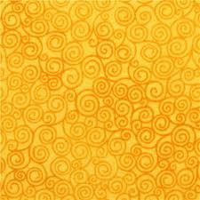 Sun Pattern Cool Sun Yellow Swirl Pattern Fabric Jazz Timeless Treasures Dots