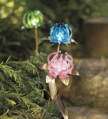 solar spider flower garden stakes set of 3