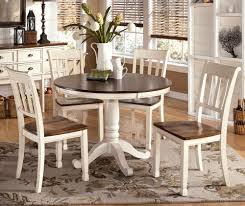round dining room tables with leaves unique molded plastic chairs padded seat design rustic extending dining