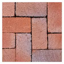 mission split 8 in x 4 in x 1 63 in tumbled clay red flash paver